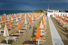 Playa de Torre Canne en Puglia, Italia Fotografía de archivo
