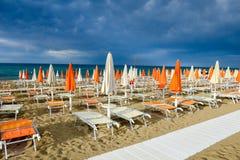 Playa de Torre Canne en Puglia, Italia Fotos de archivo libres de regalías
