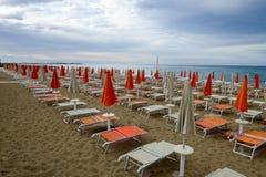 Playa de Torre Canne en Puglia, Italia Fotografía de archivo libre de regalías