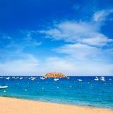Playa de Tossa de Mar en Costa Brava de Cataluña Fotografía de archivo libre de regalías