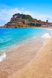 Playa de Tossa de Mar en Costa Brava de Cataluña Fotografía de archivo