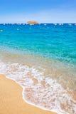 Playa de Tossa de Mar en Costa Brava de Cataluña Fotos de archivo libres de regalías