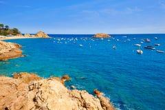 Playa de Tossa de Mar en Costa Brava de Cataluña España Imagenes de archivo