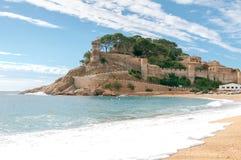 Playa de Tossa de marcha Costa Brava Fotografía de archivo libre de regalías