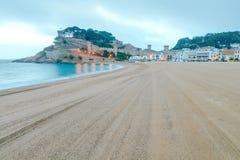 Playa de Tossa de marcha Costa Brava Fotos de archivo