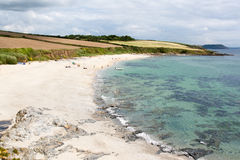 Playa de Towan Foto de archivo libre de regalías