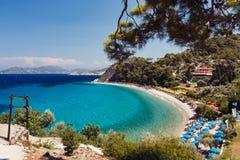 Playa de Tsamadou, Samos Foto de archivo libre de regalías