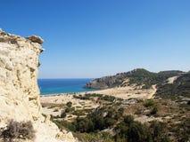 Playa de Tsampika. Foto de archivo libre de regalías