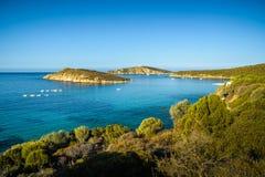 Playa de Tuarredda en Cerdeña del sur Fotografía de archivo