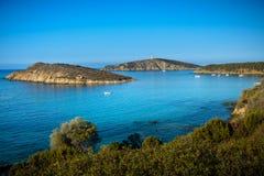 Playa de Tuarredda en Cerdeña del sur Imágenes de archivo libres de regalías
