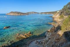 Playa de Tuarredda en Cerdeña del sur Fotografía de archivo libre de regalías