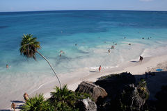 Playa de Tulum México Fotos de archivo