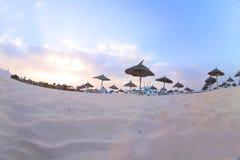 Playa de Tunusian Fotos de archivo