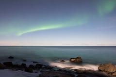 Playa de Utakleiv, islas de Lofoten, Noruega foto de archivo libre de regalías