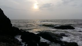 Playa de Vagator, Goa Imagen de archivo libre de regalías