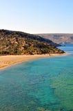 Playa de Vai, Crete imagenes de archivo