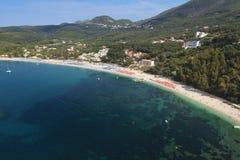 Playa de Valtos cerca de Parga en Grecia Imagen de archivo libre de regalías