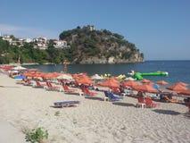Playa de Valtos, Parga, Grecia Fotografía de archivo libre de regalías