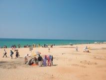 Playa de Varkala, Kerala, la India Imágenes de archivo libres de regalías