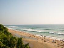 Playa de Varkala, Kerala, la India Fotografía de archivo libre de regalías