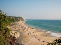 Playa de Varkala, Kerala, la India Imagen de archivo libre de regalías