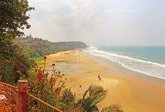 Playa de Varkala La India del sur pueda Imagen de archivo