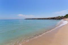 Playa de Varna en el Mar Negro Imagenes de archivo