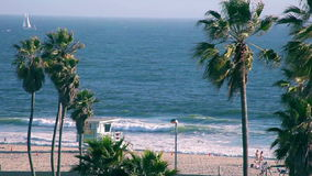 Playa de Venecia almacen de metraje de vídeo