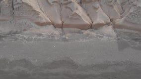 Playa de Vlichada, islas de Cyclade, Grecia almacen de metraje de vídeo