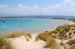 Playa de Voidokilia, geece Foto de archivo