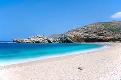 Playa de Vori en Andros, Grecia Fotografía de archivo libre de regalías