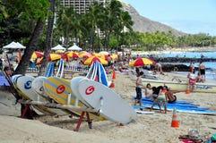Playa de Waikiki Fotos de archivo