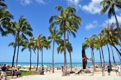 Playa de Waikiki Fotografía de archivo libre de regalías