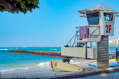 Playa de Waikiki Imagenes de archivo