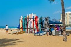 Playa de Waikiki Fotos de archivo libres de regalías