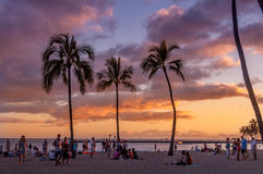 Playa de Waikiki - Hawaii foto de archivo libre de regalías