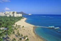 Playa de Waikiki, Honolulu, Hawaii imagen de archivo