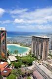 Playa de Waikiki, Oahu, Hawaii Foto de archivo