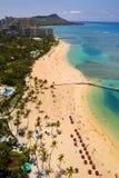 Playa de Waikiki, Oahu, Hawaii Foto de archivo libre de regalías