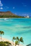 Playa de Waikiki, Oahu, Hawaii fotos de archivo