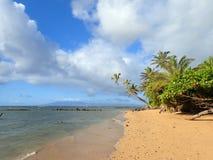 Playa de Wailua en el amanecer Fotos de archivo