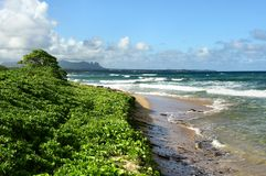 Playa de Wailua, Kauai Fotografía de archivo