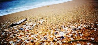 Playa de Walatha en Unakuruwa Sri Lanka Fotografía de archivo libre de regalías