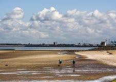 Playa de Wallasey fotografía de archivo libre de regalías