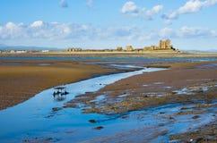 Playa de Walney e isla del sur de Piel foto de archivo