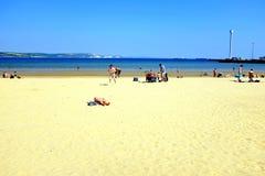 Playa de Weymouth, Dorset, Reino Unido Fotografía de archivo libre de regalías