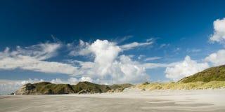 Playa de Wharariki Imágenes de archivo libres de regalías