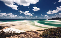 Playa de Whitehaven en Australia Foto de archivo