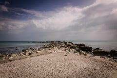 Playa de Wonderfull en Balchik Bulgaria Fotos de archivo libres de regalías