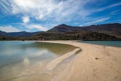 Playa del agua azul en Baja California Imagen de archivo
